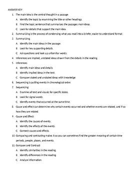 Holt American Anthem Skills Handbook Activity/Assignment Cause/Effect Inferences