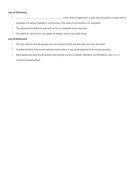 Holt Environmental Science Chapter 1 Guided Notes Pt 2