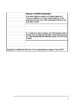 Holt McDougal Algebra 1 Sections 1.4 - 1.5 Notes and Classwork Packet
