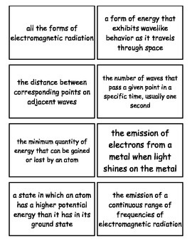 Holt Modern Chemistry, Arrangement of Electrons in Atoms Chapter Flashcards