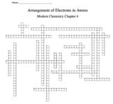 Holt Modern Chemistry Chapter 4 Vocabulary Crossword