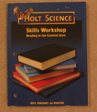 Holt Science Skills Workshop Workbook: Reading in the Content Area