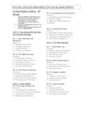Holt US History Make Make Up/ Absent Work Class Management