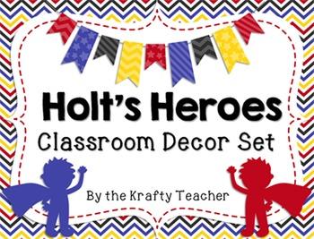 Room Decor, Hero Themed, Primary Colors