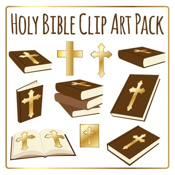 Holy Bible Clip Art Pack for Commercial Use