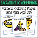Holy Communion - Sacrament Posters, Coloring Pages, and Mini Book Set