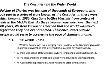 Holy Crusades PowerPoint