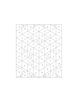 Holy Cube Isometric Color-by-Number