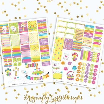 photo relating to Printable Planner Stickers identified as Holy Easter Printable Planner Stickers Mini Package