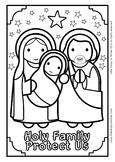 Holy Family Coloring - Catholic