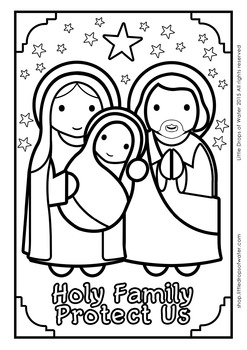 Holy Family Coloring - Catholic