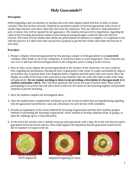 Holy Guacamole?! Exploring the Role of Enzymes in the Browning of Fruit