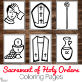 Holy Orders Coloring Pages - Catholic Sacraments Activity