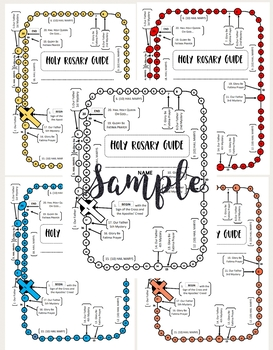 Holy Rosary Guide By Creating Catholic Resources Tpt