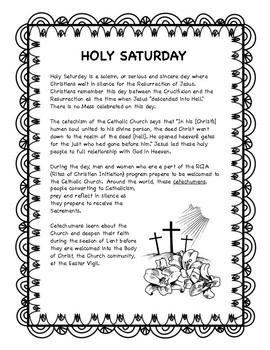 Holy Saturday -- Holy Week resource