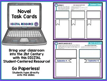 Holy Task Cards! 2: 36 Digital Task Cards for Any Novel