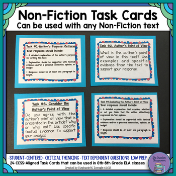Holy Task Cards! 3- 24 Tasks for Any Non-Fiction Text