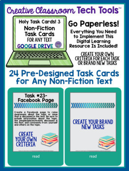 Holy Task Cards! 3: 24 Digital Task Cards for Any Non-Fiction Text