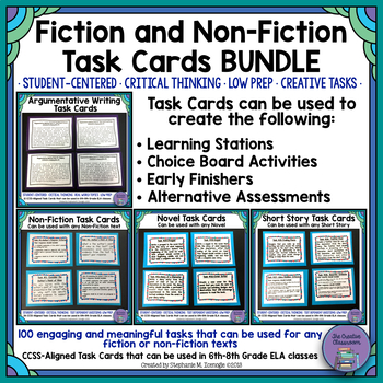 Holy Task Cards! 4- Fiction and Non-Fiction Task Cards Bundle