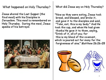 Holy Thursday, Good Friday and Easter Sunday- Catholic Interactive Book