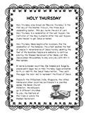 Holy Thursday -- Holy Week resource