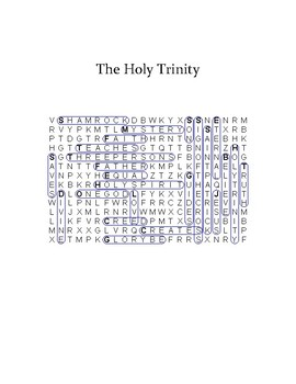 Holy Trinity Word Search - Level 2