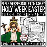 Christian Easter Bible Verses Coloring Teach- Go Pennants™