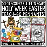 Christian Easter Bible Verses Coloring Teach- Go Pennants™