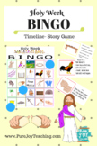 Holy Week BINGO, Jesus Timeline of Passion week before Easter, Christian Game