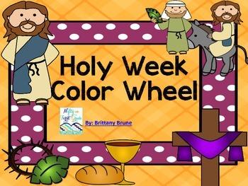 Holy Week Color Wheel