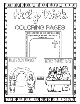 holy week coloring pages Holy Week Coloring Pages by Countless Smart Cookies | TpT holy week coloring pages