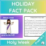 HOLY WEEK Fact Pack for EASTER  {PreK K 1st}