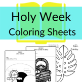 Holy Week Coloring Sheets