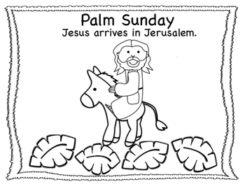 Holy Week Easter Coloring Pages By Miss P S Prek Pups Tpt