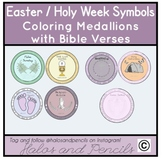Holy Week/ Easter Prayer Medallions with Symbols Craft Activity