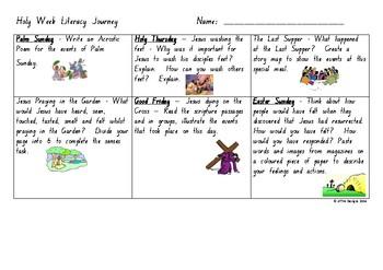 Holy Week Literacy Journey