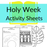 Holy Week Printable Activities for Sunday School or Homesc