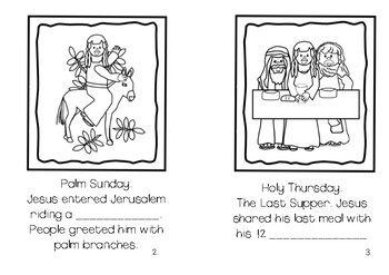 Holy Week Reading Cloze Booklet