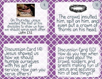 Holy Week Sequence and Discussion Cards!