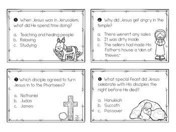 Holy Week Task Cards