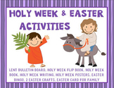 Holy Week and Easter Activities~ Palm Sunday, Holy Thursday, Good Friday, Easter