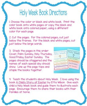 Holy Week and Easter Book