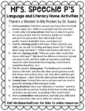 Home Activities for There's a Wocket in my Pocket, by Dr Suess