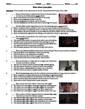 Home Alone Film (1990) 15-Question Multiple Choice Quiz