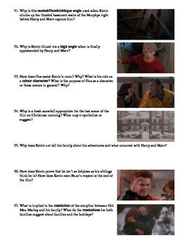 Home Alone Film (1990) Study Guide Movie Packet