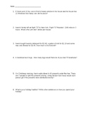 Home Alone Math Movie Worksheet