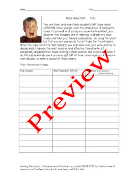 Home Alone Part... You- Writing Assignment