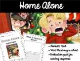 Home Alone (Reading Response Writing Activity Worksheet)