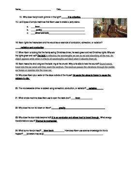 Home Alone Science Review Answer Key