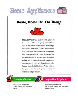 Home Appliances Lesson